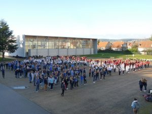 Flashmob géant au lycée Marey