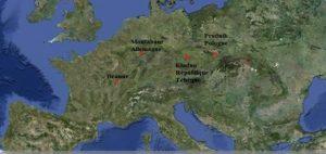 carte du projet Comenius