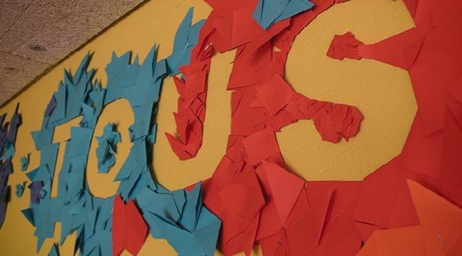 Une fresque en origami pour le Tri