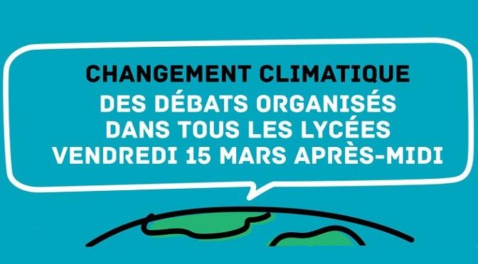 Changement climatique : débat