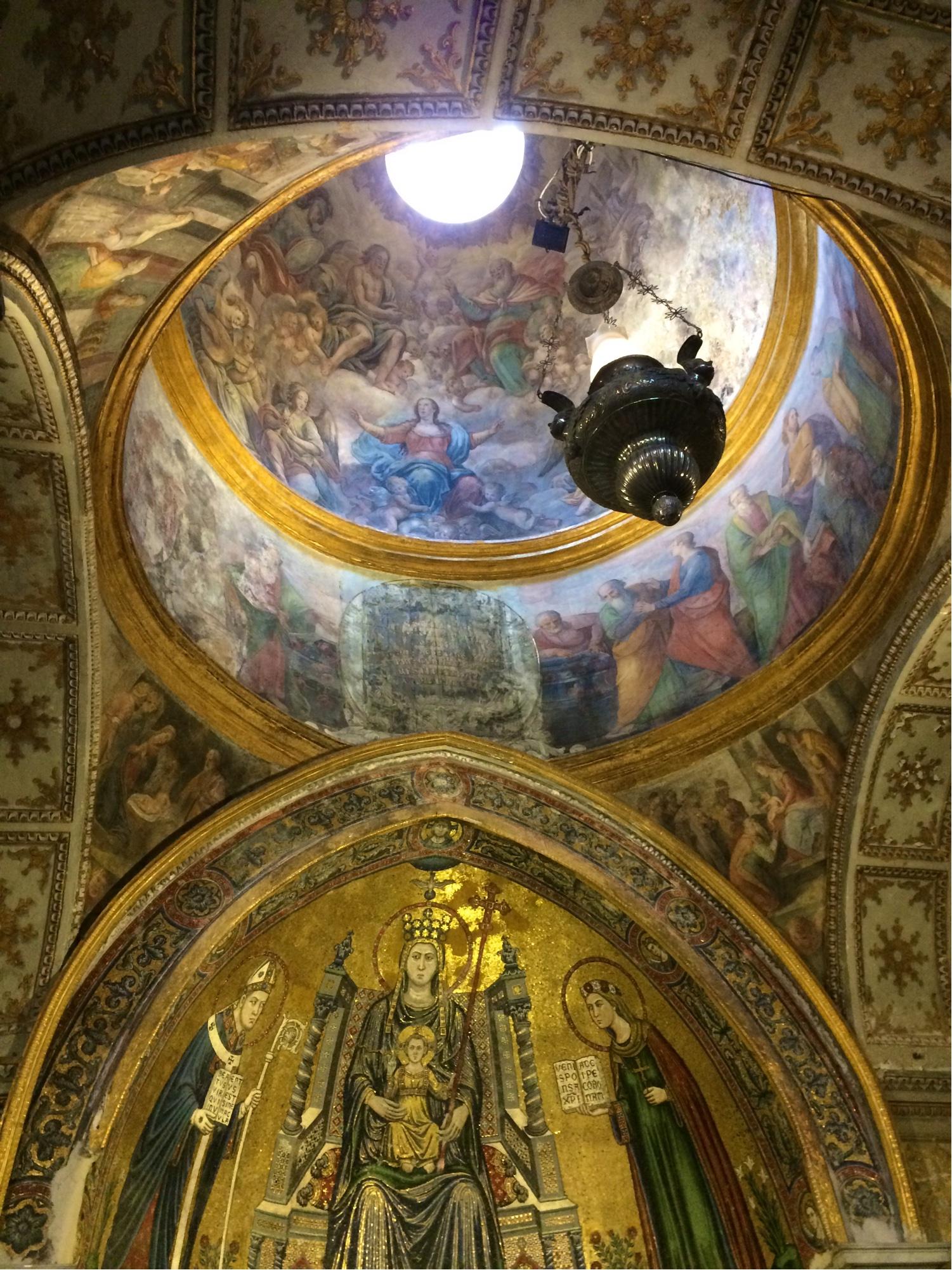 Fresque présenter au musée archéologique de Naples