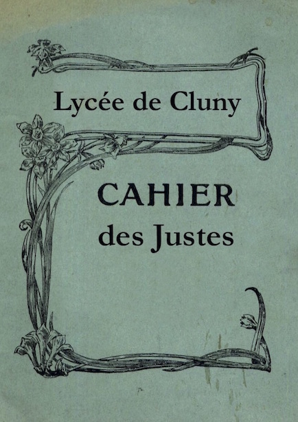 Cahier_des_Justes_Lyceens_Cluny