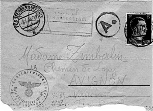 Zim Lettre allemand Recto