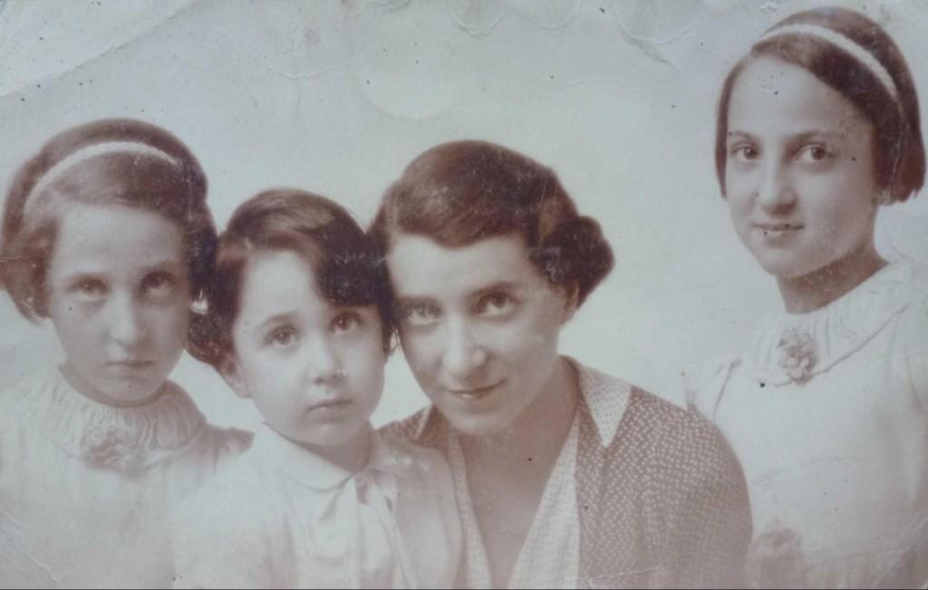 Lucie Piquard et ses trois enfants