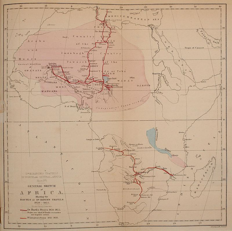Heinrich_Barth's_route_through_Africa,_1850_to_1855
