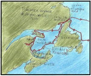 Carte 1er voyage Cartier