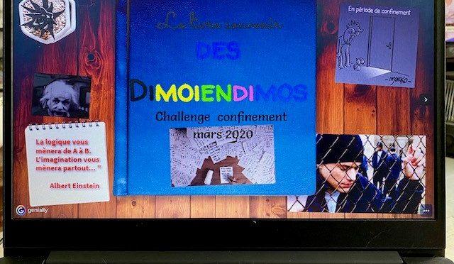 Le livre souvenir numérique du challenge confinement Dimoiendimo