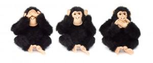 Les trois singes sages
